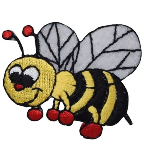 "Bumblebee Patch Applique - Bee, Boxing Gloves, Bug, Insect Badge 1.75"" (Iron on)"