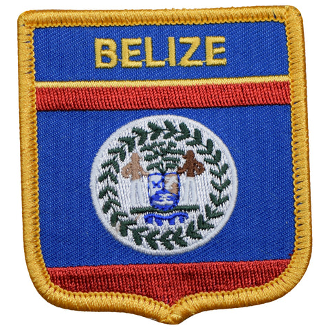"Belize Patch - Central America Badge, Caribbean Sea 2.75"" (Iron on)"