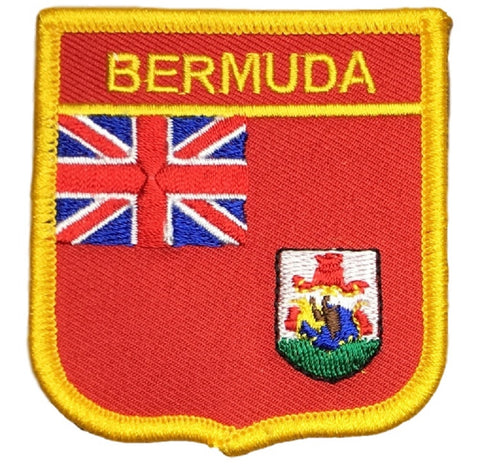 "Bermuda Patch - British Overseas Territory, North Atlantic Ocean 2.75"" (Iron on)"