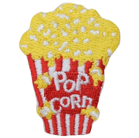 "Popcorn Applique Patch - Cinema, Movie Theater Food Badge 1-15/16"" (Iron on)"