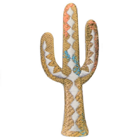 "Cactus Applique Patch - Saguaro, Southwest, Desert Badge 3"" (Iron on)"
