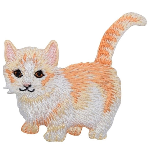 "Kitty Cat Applique Patch - Kitten, Cream Orange Tabby 2-1/8"" (Iron on)"