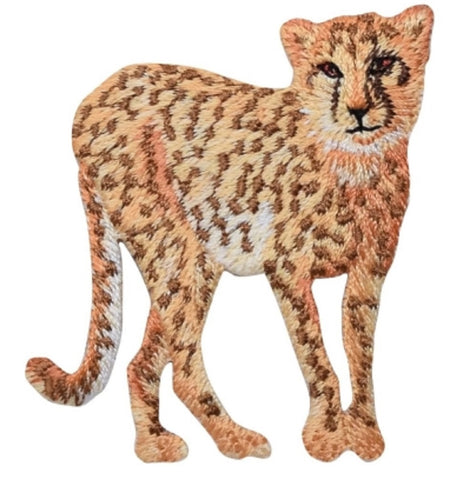 "Cheetah Applique Patch - Cougar, Panther, Leopard Badge 2.25"" (Iron on)"