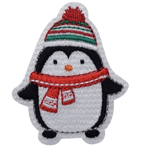"Penguin Applique Patch - Winter Bird Badge 2-1/8"" (Iron on)"