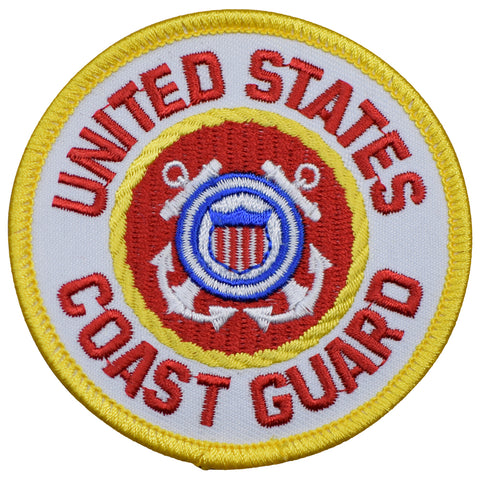 "United States Coast Guard Patch - US Military, Armed Forces Badge 3"" (Iron on)"