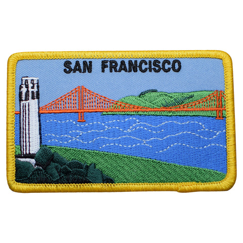 "San Francisco Patch - Golden Gate Bridge, Coit Tower, SF Bay 4"" (Iron on)"