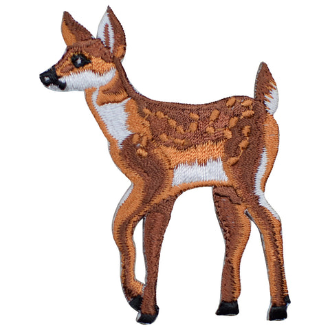 "Deer Fawn Applique Patch - Baby Deer, Animal Badge 2.5"" (Iron on)"