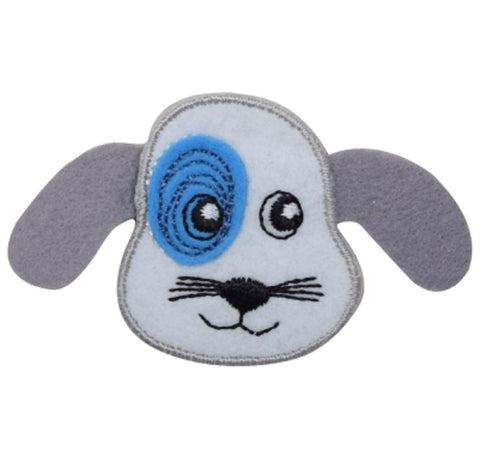 "Puppy Dog Applique Patch - Layered Felt 2-5/8"" (Iron on)"