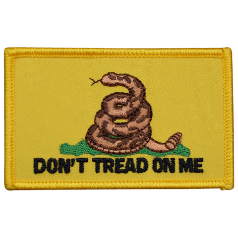 "Gadsden Flag Patch - Don't Tread on Me, American Revolution 3.25"" (Iron on)"