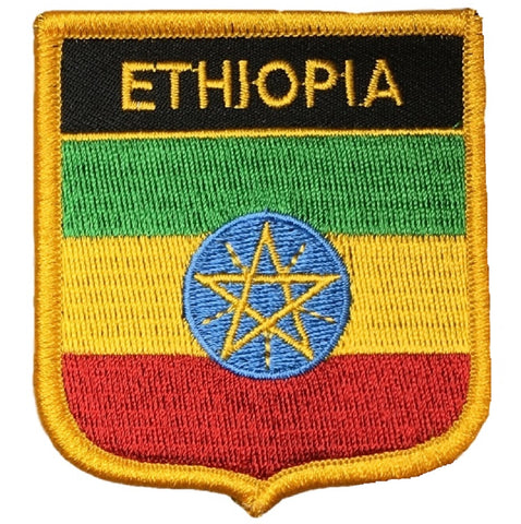 "Ethiopia Patch - Horn of Africa, Addis Abada, Haile Selassie 2.75"" (Iron on)"