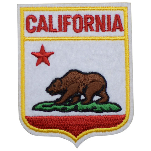 "California Patch - Grizzly Bear, CA Badge, Felt Badge 2.5"" (Iron on)"