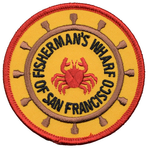 "San Francisco Patch - Fisherman's Wharf, California Badge 3"" (Iron on)"