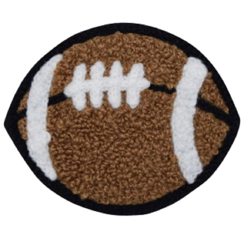 "Chenille Football Applique Patch - Letterman Jacket, Sports Badge 2-3/8"" (Iron on)"