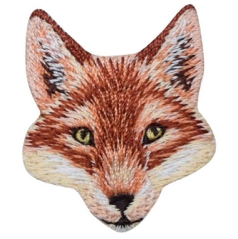 "Fox Applique Patch - Dog, Animal Badge 1.5"" (Iron on)"