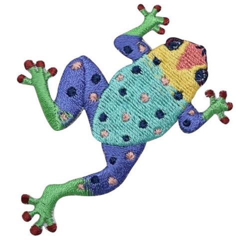 "Tree Frog Applique Patch - Amphibian, Arboreal Critter Badge 2.75""  (Iron on)"