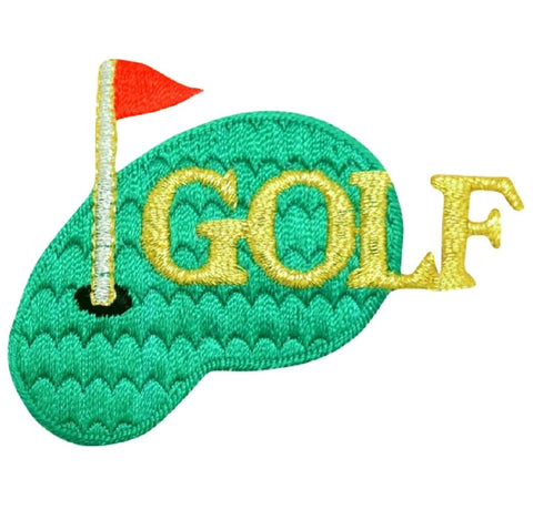 "Golf Applique Patch - Putting Green, Links, Golfing Badge 2.75"" (Iron on)"