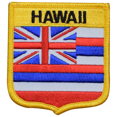 "Hawaii Patch - HI, Oahu, Maui, Kauai, Molokai Badge 2.75"" (Iron on)"