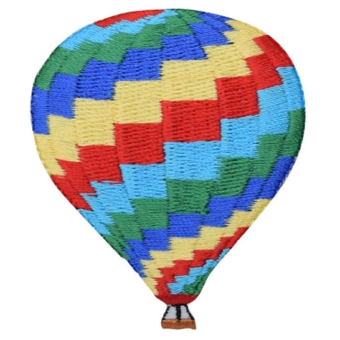 "Hot Air Balloon Applique Patch - Zig-Zag Design 2-5/8"" (Iron On)"