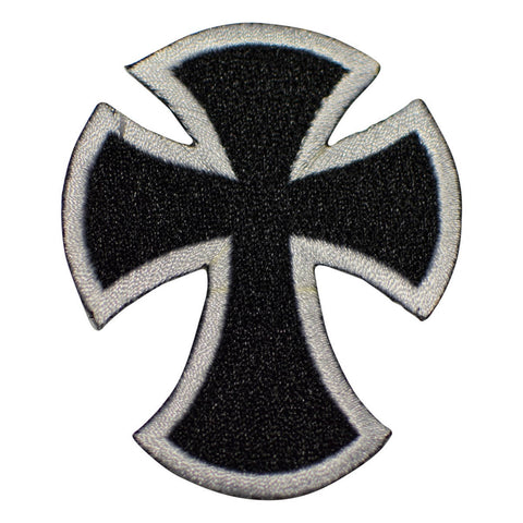 "Cross Applique Patch - Alisee Pattee Badge 2-3/4"" (Iron on)"