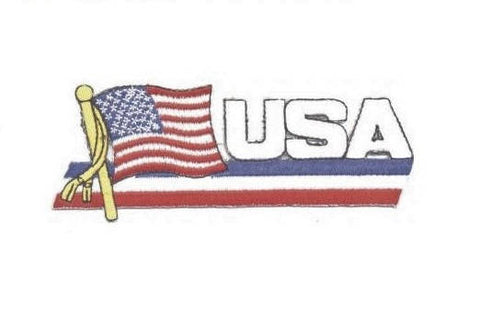 USA Flag Patch - United States of America (Iron On)