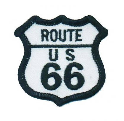 Route 66 Patch - Small (Iron On)