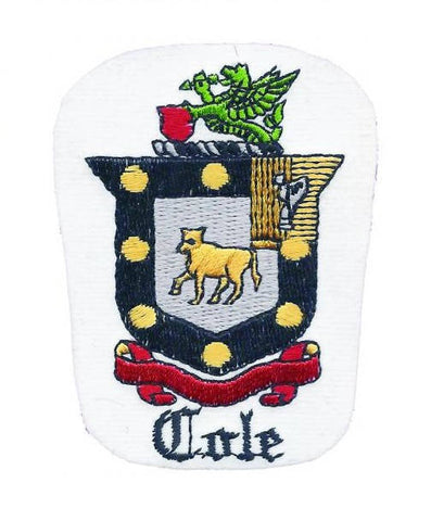 Cole Surname Crest Patch (Iron On)