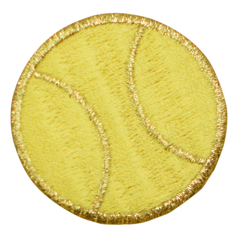 Yellow and Gold Tennis Ball Applique Patch (Iron on)