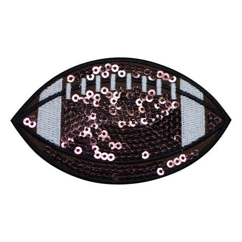 Sequin Football Applique Patch (Iron on)