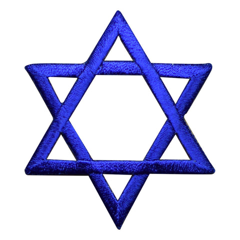 Blue Star of David Jewish Applique Patch (Iron on)