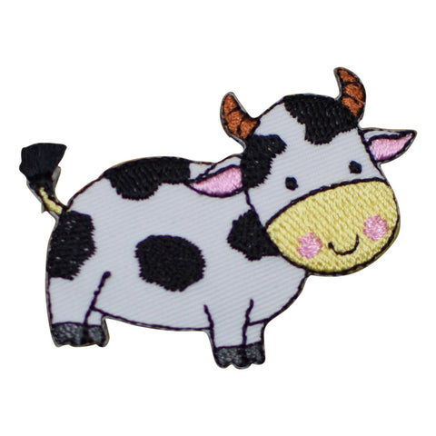 "Milk Cow Applique Patch - Dairy, Cheese, Farmer Badge 2-1/8"" (Iron on)"
