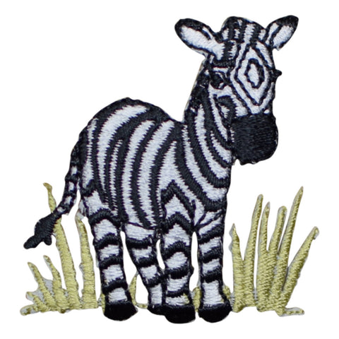 Zebra in the Grass Applique Patch (Iron on)