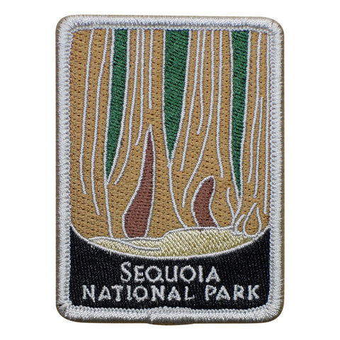 "Sequoia National Park Patch - Redwood Trees, California Badge 3"" (Iron on)"