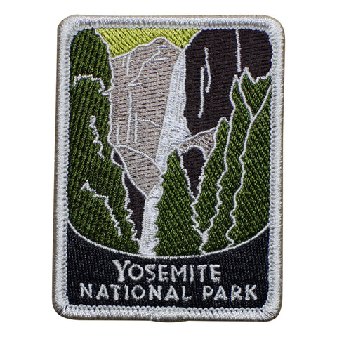 Yosemite National Park Patch Patch - Official Traveler Series - Upper and Lower Falls, California (Iron on)