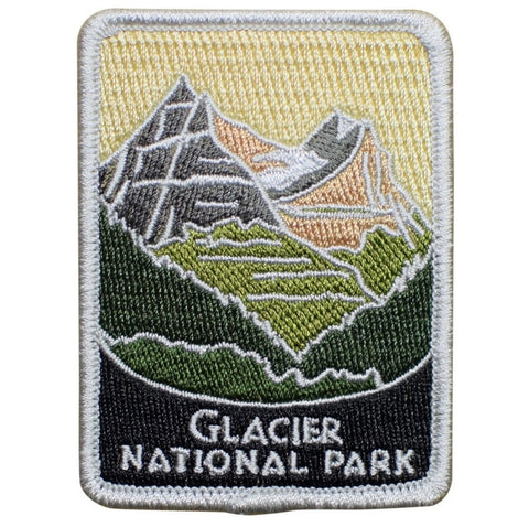 "Glacier National Park Patch - Gunsight Mountain, Montana Badge 3"" (Iron on)"