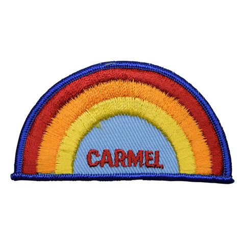 Vintage Carmel Rainbow Patch - California, Dark Blue Border (Sew on)
