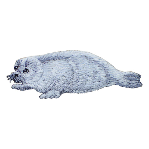 "Harp Seal Applique Patch - Saddleback Seal, Greenland Seal 3-1/8"" (Iron on)"
