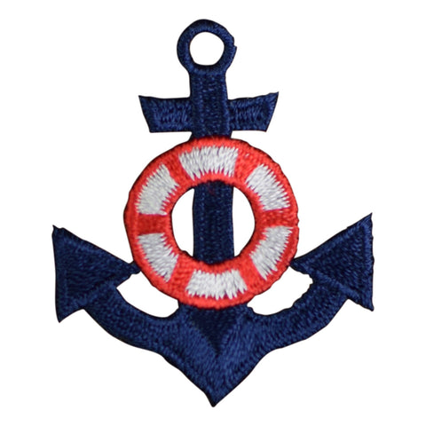 Anchor and Life Preserver Applique Patch (Iron on)