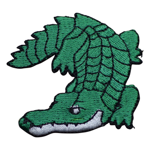 "Alligator Applique Patch - Crocodile Gator Badge 2-1/4"" (Iron on)"