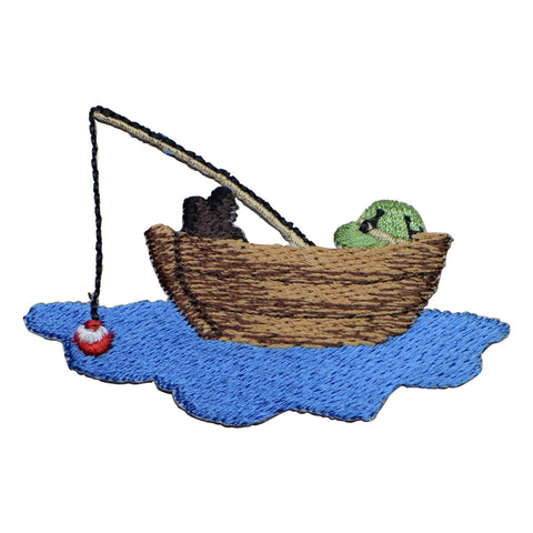 Fishing Boat Applique Patch (Iron on)