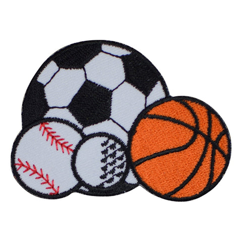 "Sports Applique Patch - Baseball, Basketball, Golf, Soccer 2.75"" (Iron on)"
