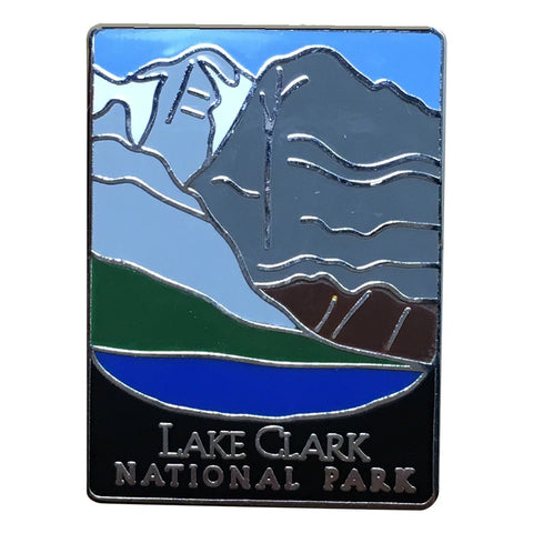Lake Clark National Park and Preserve Pin - Mountains, Lake, Alaska