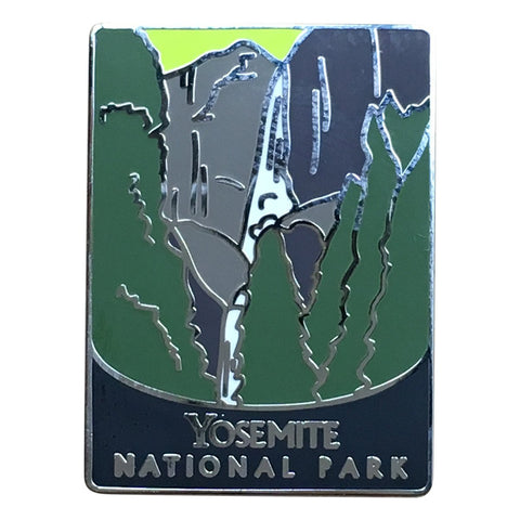 Yosemite National Park Pin - Official Traveler Series - Upper and Lower Falls, California