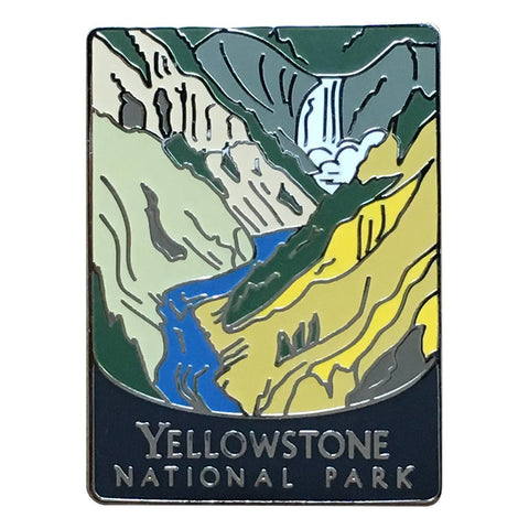 Yellowstone National Park Pin - Official Traveler Series - Yellowstone River