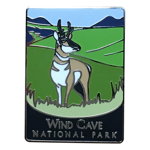 Wind Cave National Park Pin - Official Traveler Series - South Dakota, Antelope
