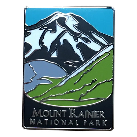Mount Rainier National Park Pin - Volcanic Mountain, Washington