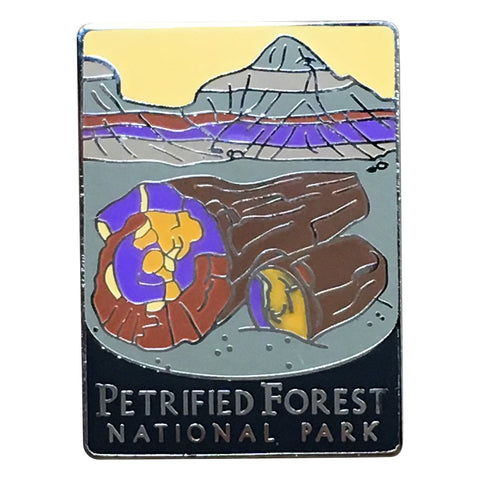 Petrified Forest National Park Pin - Navajo, Apache, Arizona 1-1/8""