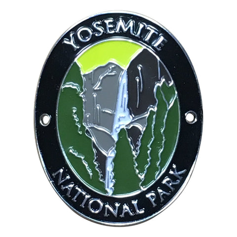 Yosemite National Park Walking Stick Medallion - Upper and Lower Falls, California