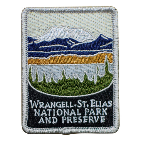 Wrangell – St. Elias National Park Patch - Official Traveler Series - Alaska (Iron on)