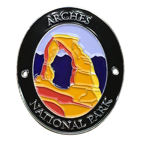 Arches National Park Walking Hiking Stick Medallion - Official Traveler Series - Delicate Arch, Utah