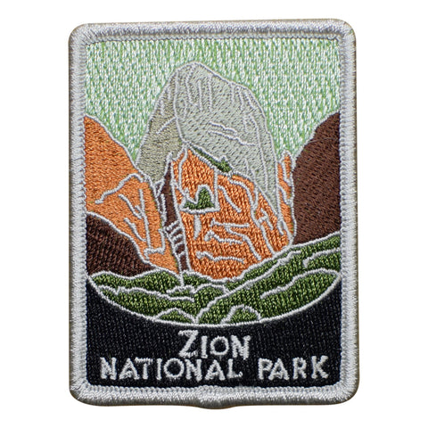 Zion National Park Patch - Official Traveler Series - Utah (Iron on)